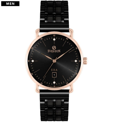 Sveston Ontario Royal Sv-19013 Rose-Gold Black Stone