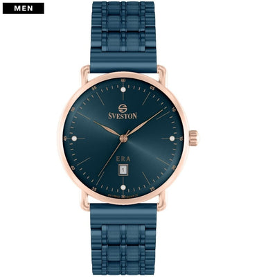 Sveston Ontario Royal Sv-19013 Rose-Gold Navy Stone