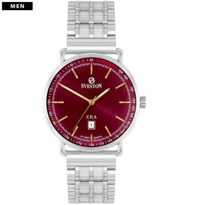 Sveston Ontario Royal Sv-19013 Silver-Maroon Stick