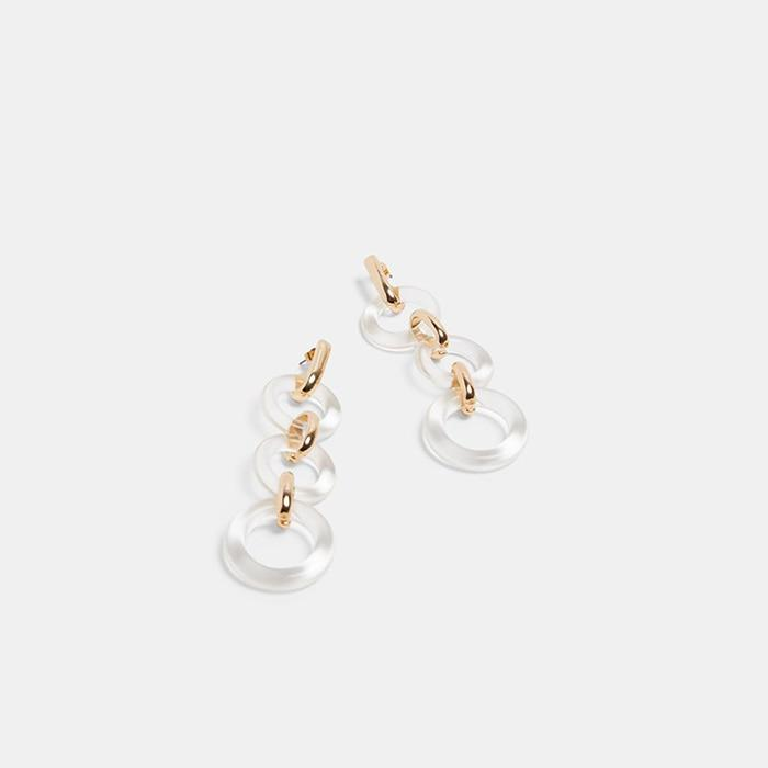 Chelsea clear resin earrings