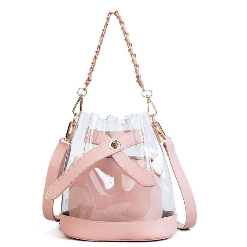 Neoma clear bucket bag