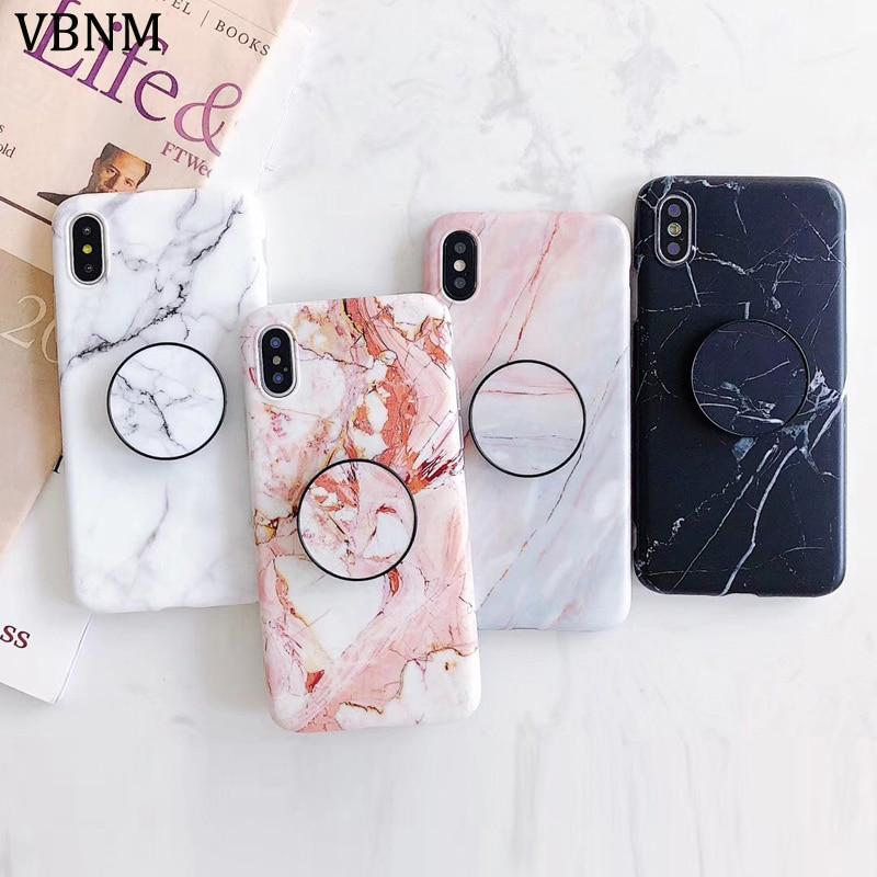 Marble iphone case with popsocket