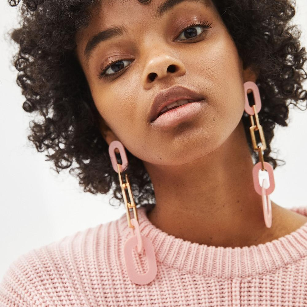 Lola & Juno acrylic drop earrings
