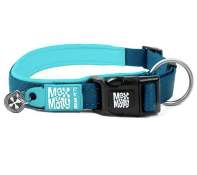 Max & Molly Matrix Sky Blue Collar M
