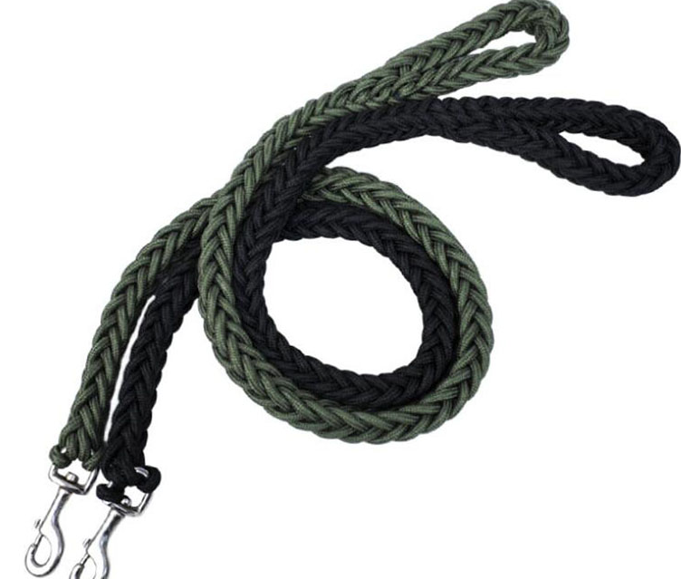 Pets Park Green Cotton Leash(Green and Black )