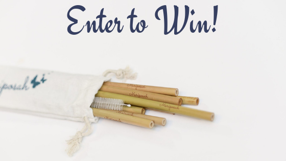 Enter to Win Reusable Bamboo Straws 8pk with Cleaning Brush