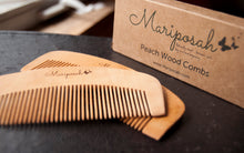 peach wood combs, reusable, sustainable, natural, bamboo, organic wood