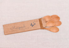 box of 6 bamboo small spoons-Mariposah
