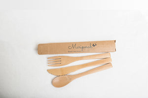 Travel Bamboo Utensils - Mariposah