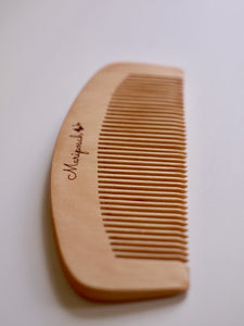 peach wood combs, reusable, sustainable, natural, bamboo, organic wood-Mariposah