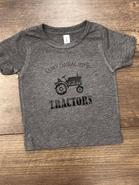 Jena Bug Baby Boutique - Easily Distracted by Tractors Infant/Toddler Tee