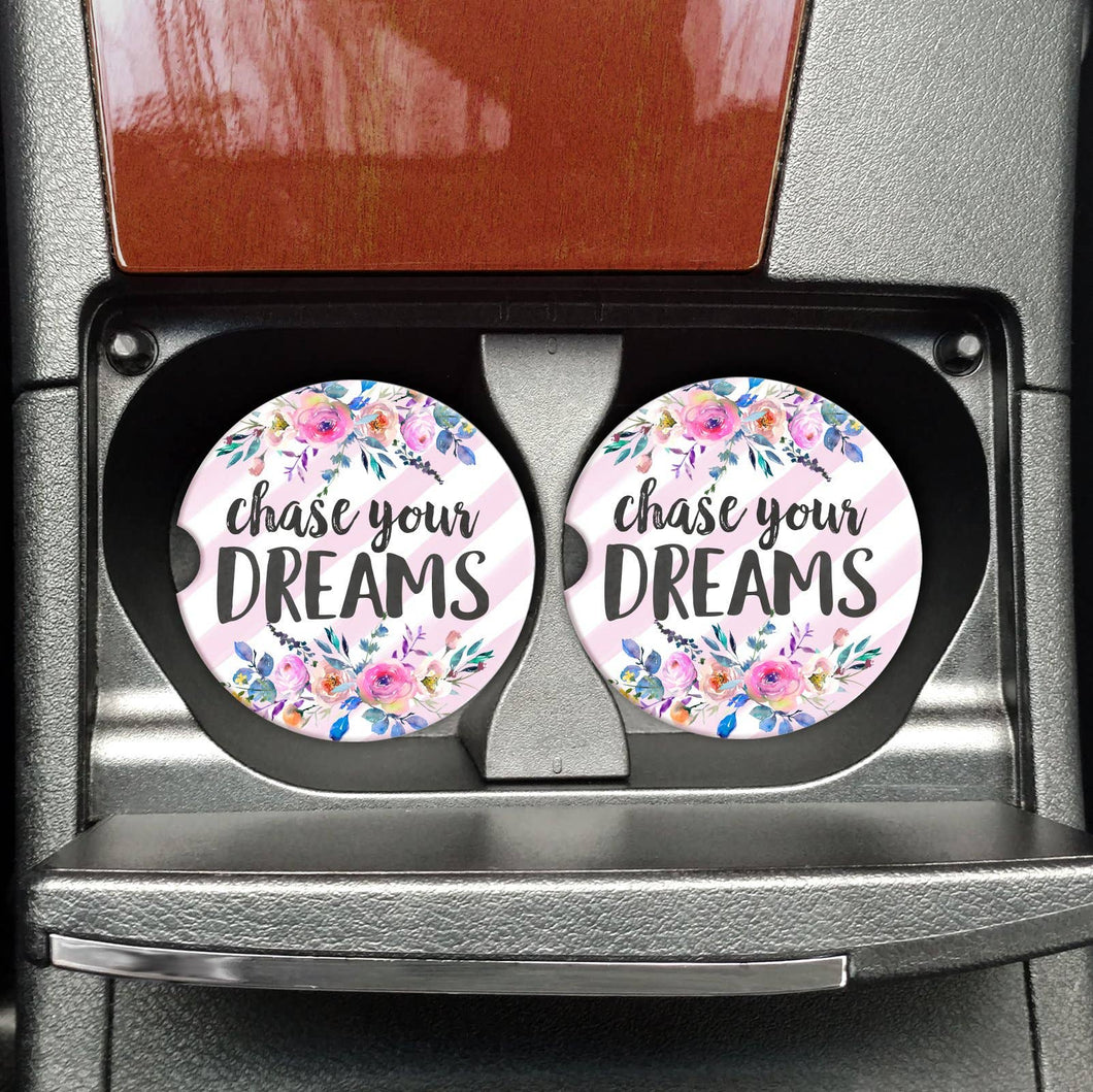 Chase Your Dreams Car Coasters