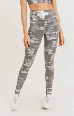 Silver Foil Camo Highwaist Leggings