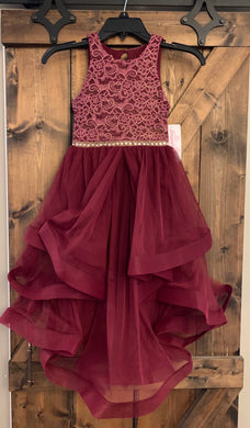 Burgundy Walk Through Gown