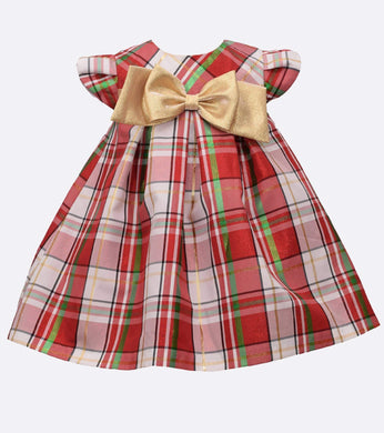 Alexa Plaid Holiday Baby Dress