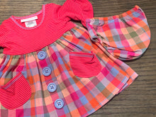Baby Button Down Plaid Dress