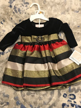 Infant Jaquard Stripe Empire Dress