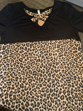 Plus Criss Cross Cheetah Top