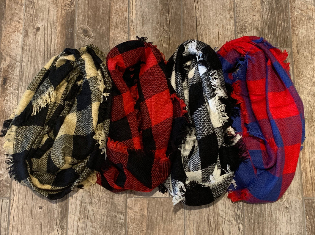Buffalo Plaid Infinty Scarf