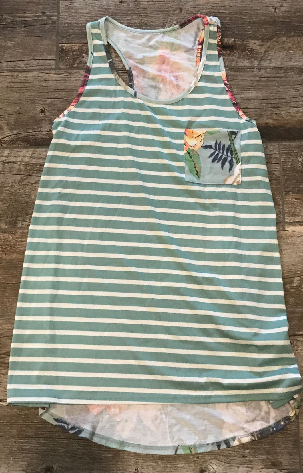 Green Striped Tank