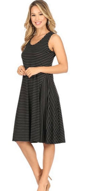 Black Pin Stripe Dress