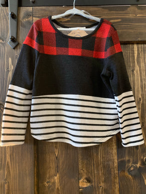 Girls Mixed Pattern Top