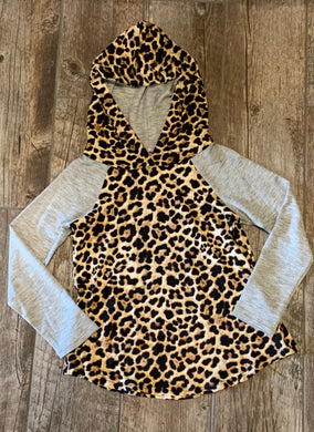 Girls Animal Print Hoodie