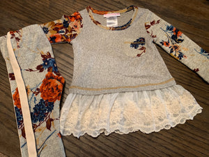 Toddler Long Sleeve Floral Set