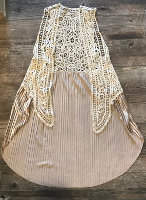 Cream Lace Cardigan