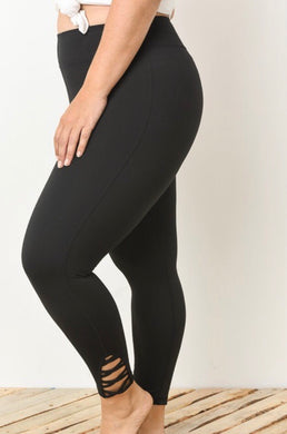 Black Lattice Leggings Plus
