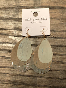 Triple Layer Teardrop Earrings