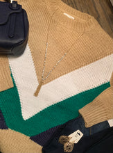 Chevron Color Block Sweater