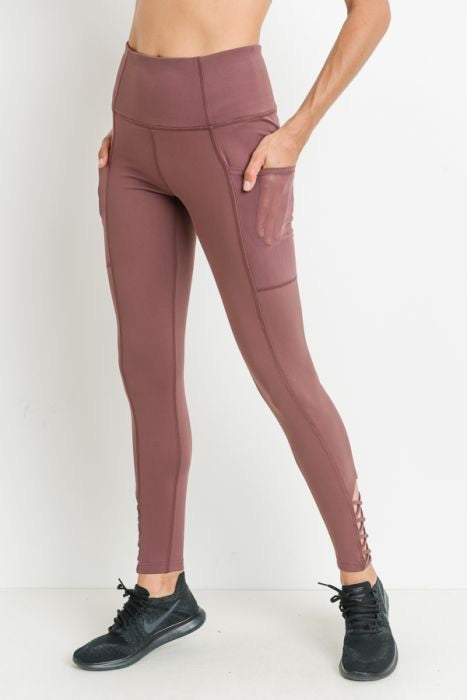 Rust Criss Cross Leggings