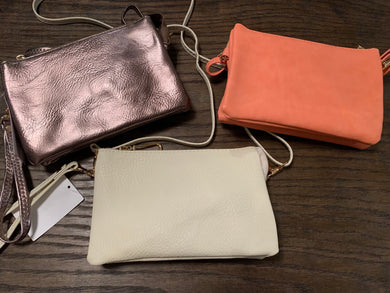 Tri Pocket Crossbody Wristlet