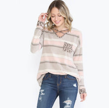 Taupe Stripe Fleece