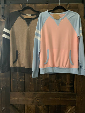 Athletic Stripe Sweatshirt