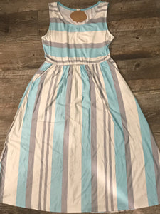 Horizontal & Vertical Striped Dress