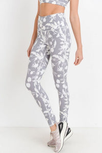 High waist Shadow Poppy Full Leggings