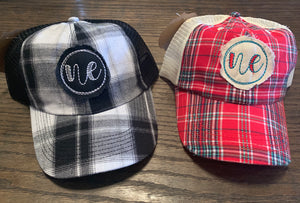 Plaid Trucker Nebraska Hat