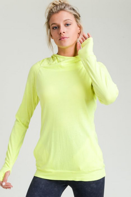 Sleek Hoodie Long Sleeve Top