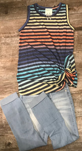 Knotted Stripe Tank