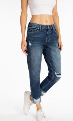 KanCan Boyfriend Destructed Jeans