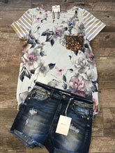Pale Blue Floral Top