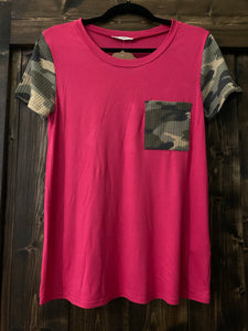 Camo Pocket Top