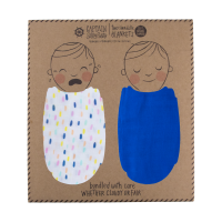 Captain Silly Pants Swaddle Set