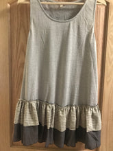 Gray Vintage Ruffled Tank