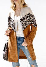 Chevron Animal Print Cardigan