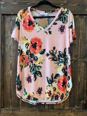 Peach Poppy Top