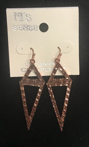 Rose Gold Flipped Triangle Earrings