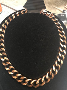 Antique Bronze Chain Necklace